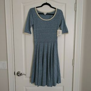 New Lularoe Dress S Women's Blue Heathered NICOLE
